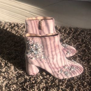 Pink with pearls Zara boots